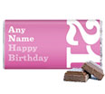 21st Birthday Present - Personalised Chocolate Bar