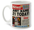 21st Birthday Present - Personalised Mug