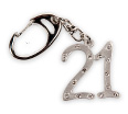 21st Birthday Present - Diamante Keyring