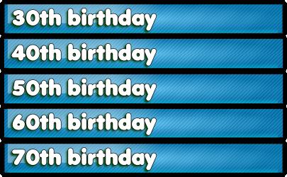 Special Age Birthday Present Ideas 16th 18th 21st 30th 40th 60th
